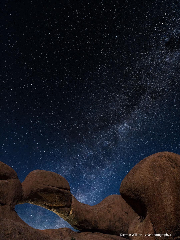 Milky Way Rock Arch - Spitzkoppe - Namibia